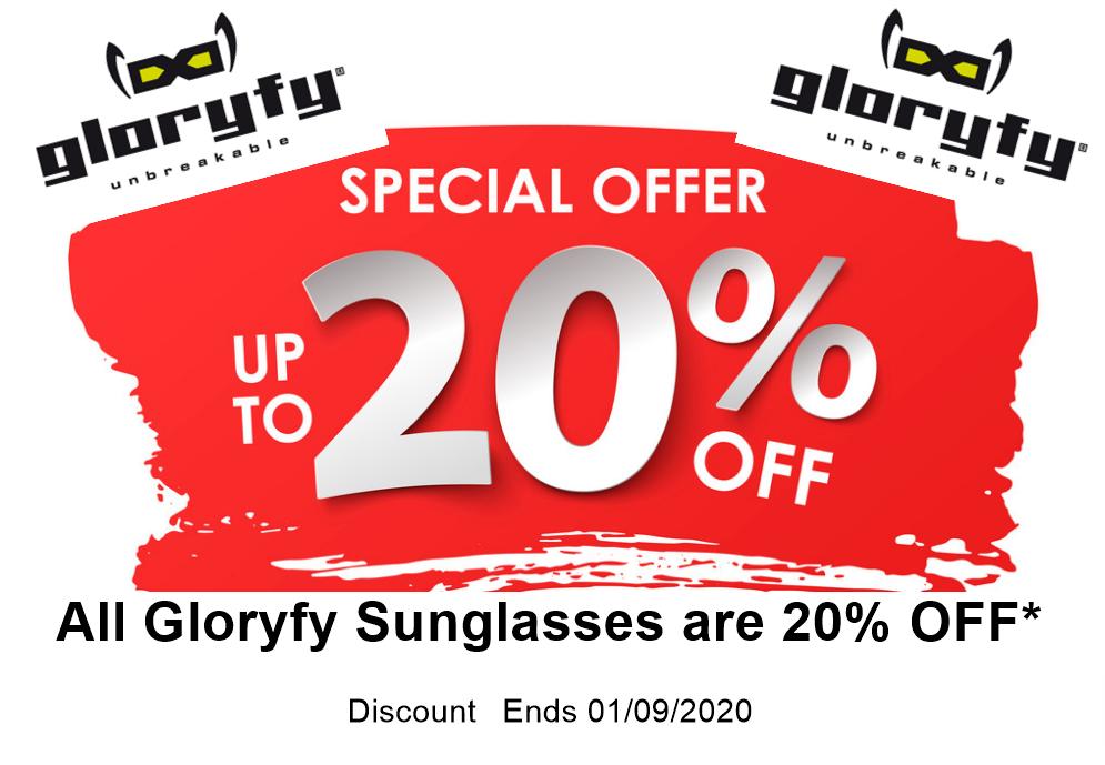 Gloryfy Sunglasses Discount 20 percent off
